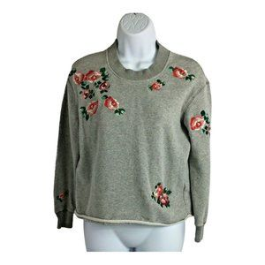 Miles(s) By Madewell Embroidered Sweatshirt Sz XXS